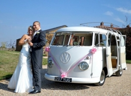 1950's VW Campervan for wedding hire in Guildford